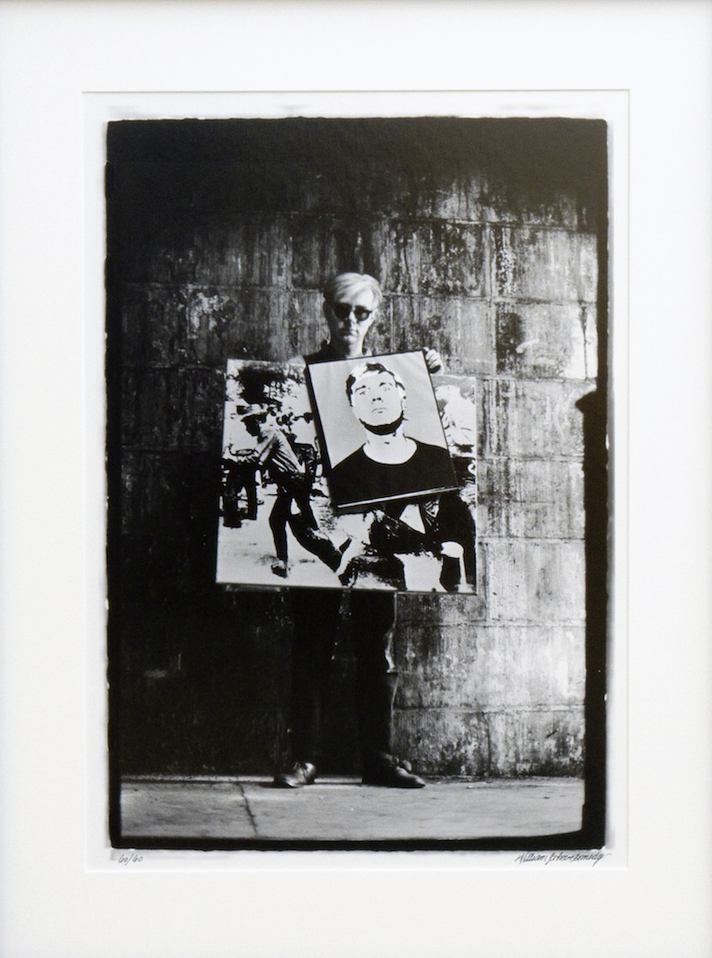 Andy Warhol with Self Portrait and Race Riot Sandwich Boards II