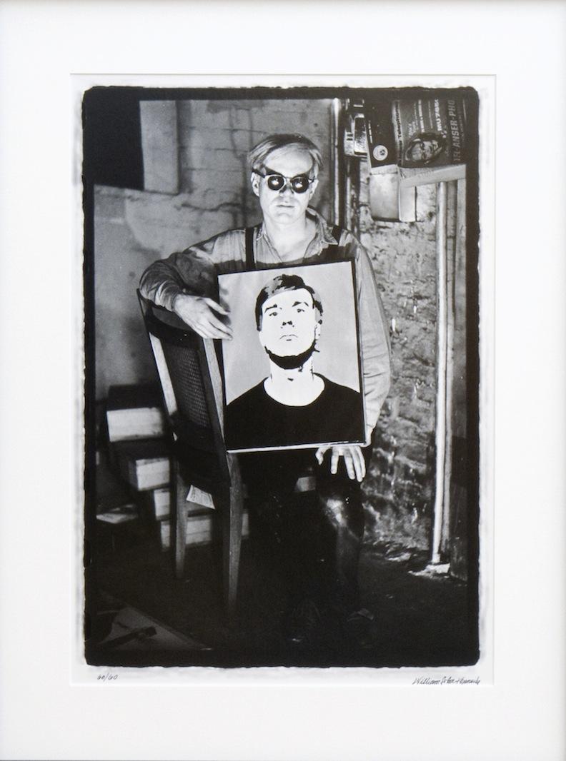 Warhol Sitting with Self Portrait SB