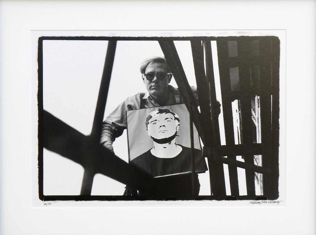 Warhol with Self Portrait SB, Factory Fire Escape IV