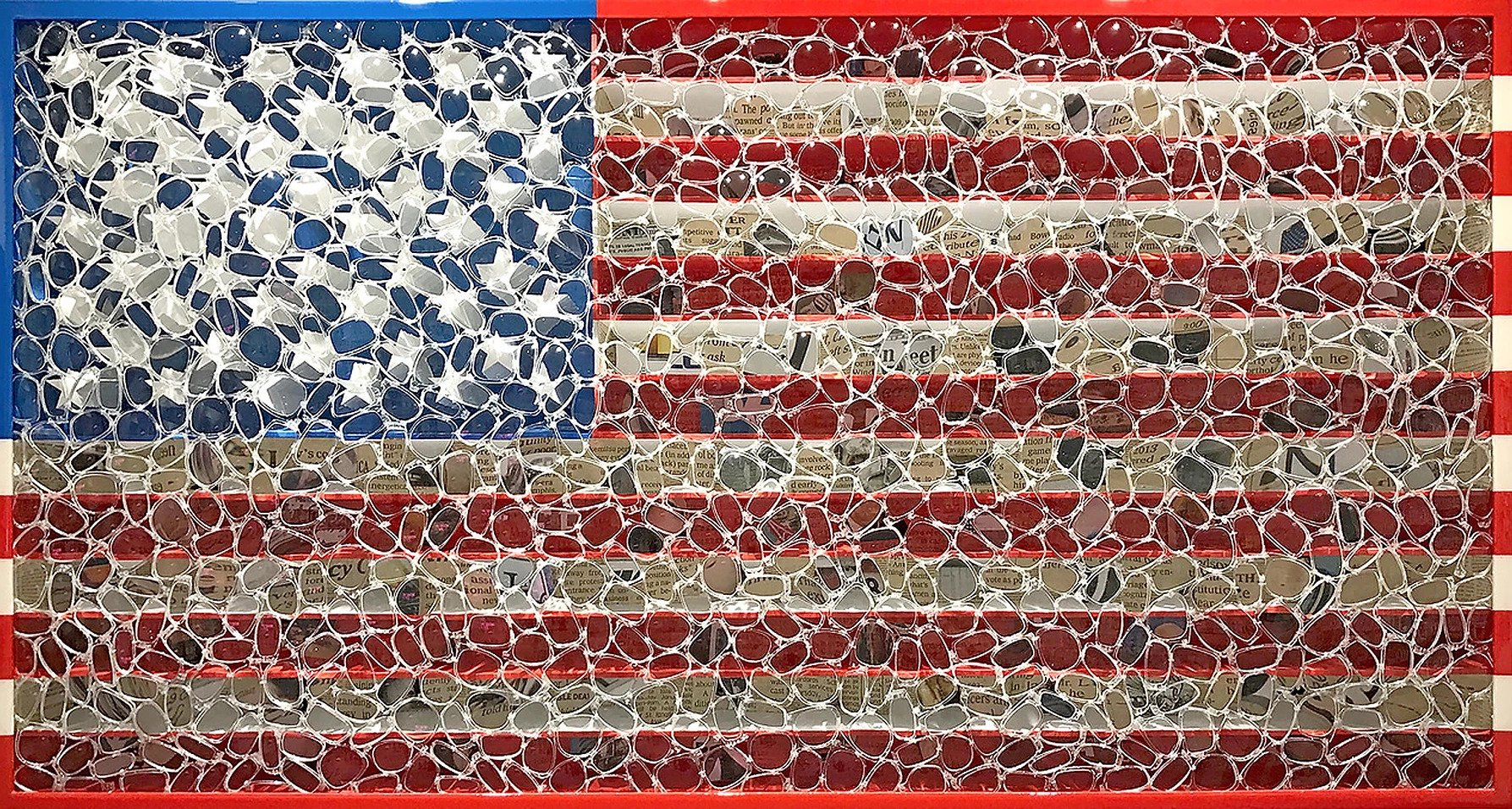 Mixed media of American Flag