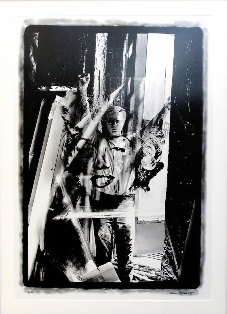 Warhol Holding Marilyn Acetate l